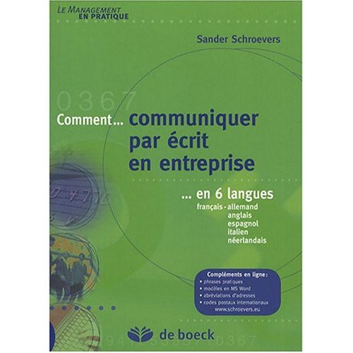 Read Online Commercial Correspondence in Six Languages: French-German-English-Spanish-italien-Dutch ebook