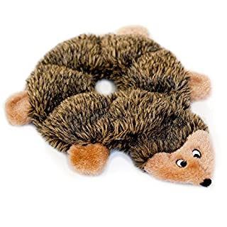 ZippyPaws - Loopy Hedgehog No Stuffing Squeaky Plush Dog Toy - For Small and Medium Dogs