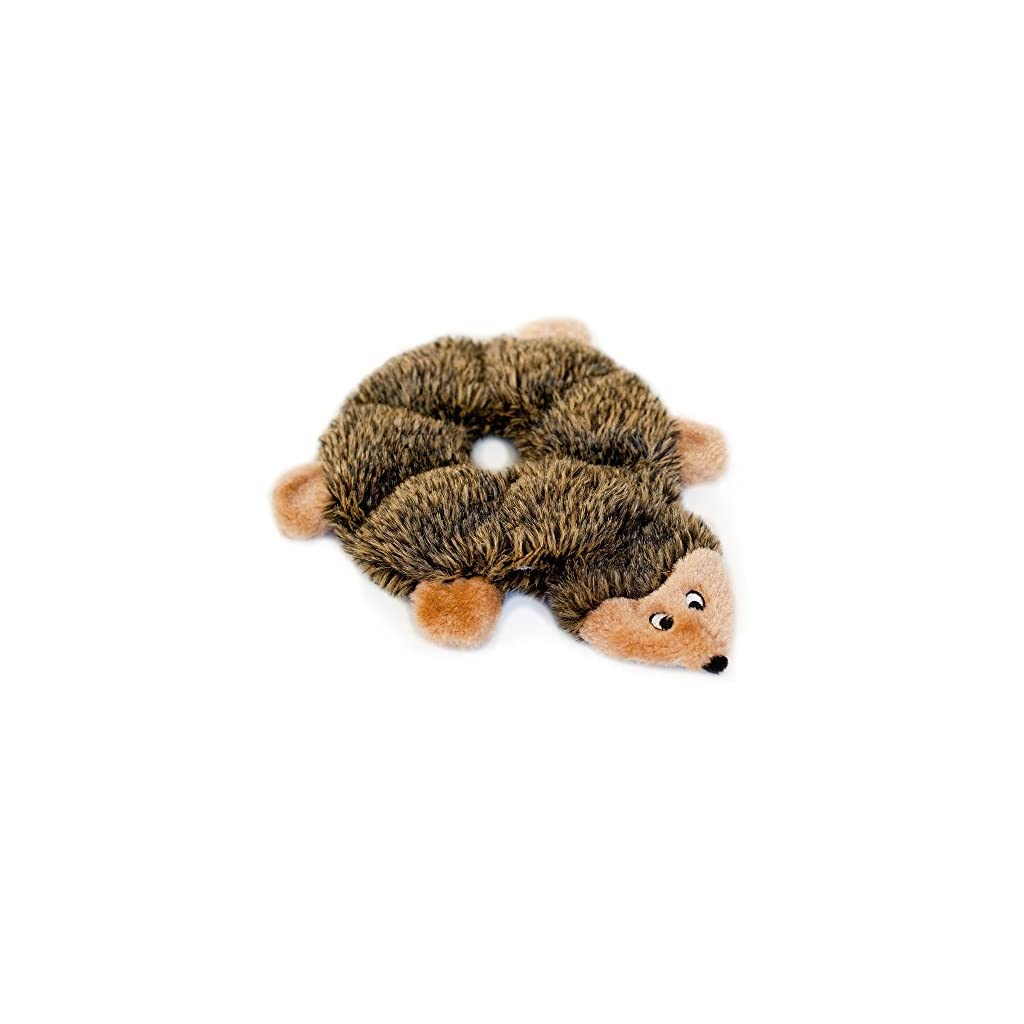 ZippyPaws-Loopy-Hedgehog-No-Stuffing-Squeaky-Plush-Dog-Toy-For-Small-and-Medium-Dogs