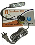20 LED 110v Light Magnetic Mounting Base Working Gooseneck Lamp for Home or Sewing Machine