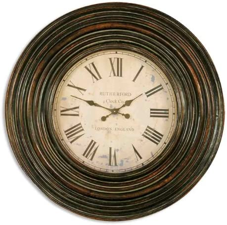 Classic Extra Large Dark Wood Wall Clock