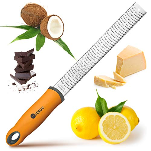 ORBLUE Hand Zester and Grater for Zesting Citrus, Spices and Grating Cheese