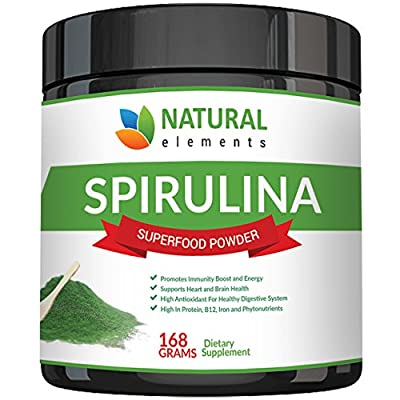 Organic Spirulina Powder - Highest Quality Of Blue Green Algae From California & Hawaii – 100% Vegetarian & Vegan, Non-GMO, Non-Irradiated – The Best Green Superfood For Smoothies!