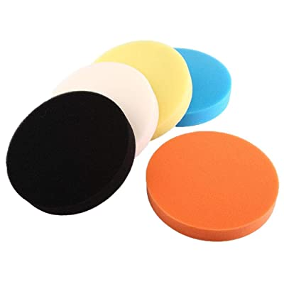 "Car Polishing Pads, 5Pcs 3"" 4"" 5"" 6"" 7"" Sponge Polishing Buffing Waxing Pad Kit Tool for Car Polisher Buffer (6""/150mm): Automotive"