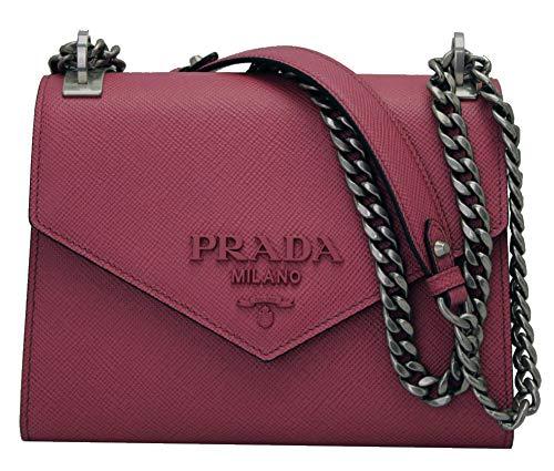 (Prada Monochrome Saffiano Leather Shoulder Bag 1BD127 Bruyere)