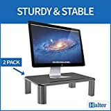 Halter LZ-500 Monitor Stand Riser Height Adjustable Storage Organizer - For PC, iMac, Laptop, Phone & Tablet, Printer - 2 Pack
