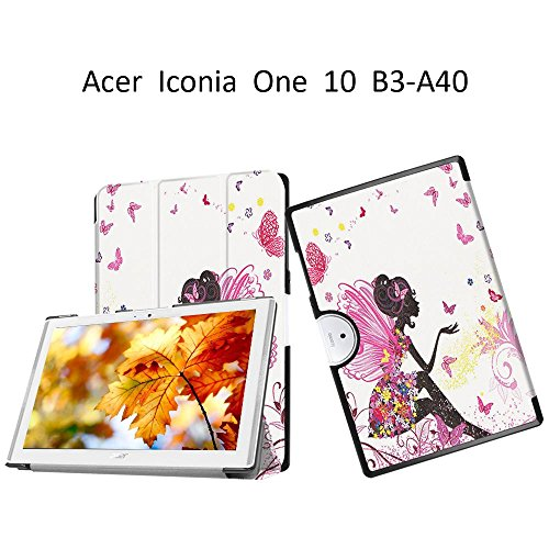 Acer Iconia One 10 B3-A40 10.1-inch Case,Acer Iconia B3-A40 Case?Ultra Slim Back Cover Case Light Weight Cover for Acer Iconia One 10 B3-A40 Skin with Stand Features,Elf girl