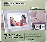 7 Brushed Nickel LCD Frame