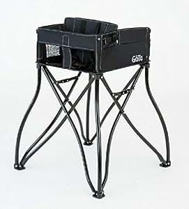 Phoenix Baby Goto 2-in-1 Carseat Holder & Travel High Chair, Black