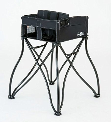 Phoenix Baby Goto 2-in-1 Carseat Holder & Travel High Chair, Black (Phoenix Outdoor Store)