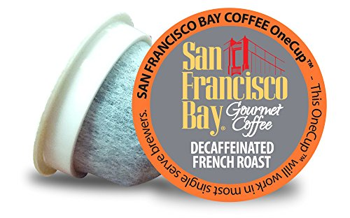 San Francisco Bay OneCup Decaf French Roast (36 Count) Single Serve Coffee Compatible with Keurig K-cup Brewers Single Serve Coffee Pods, Compatible with Cuisinart, Bunn, iCoffee single serve brewers