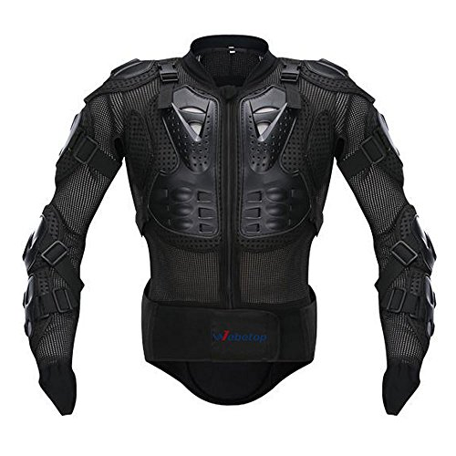 Protector Fox Chest - Webetop Motorcycle Jacket With Armor Full Body Spine Chest Shoulder Protective Clothing Off Road Motorcross Racing Protector Gear Black,L