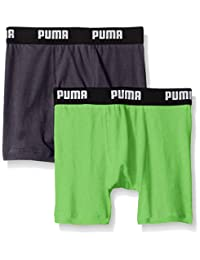 PUMA Boys' 2PK BOYS COTTON BOXER BRIEF