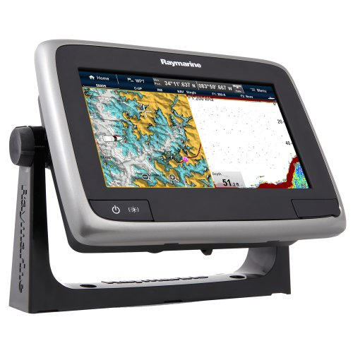 "Raymarine a77 Multifunction Display with Built-in Fishfinder, Wi-Fi & Lighthouse Navigation Charts, 7"" primary"