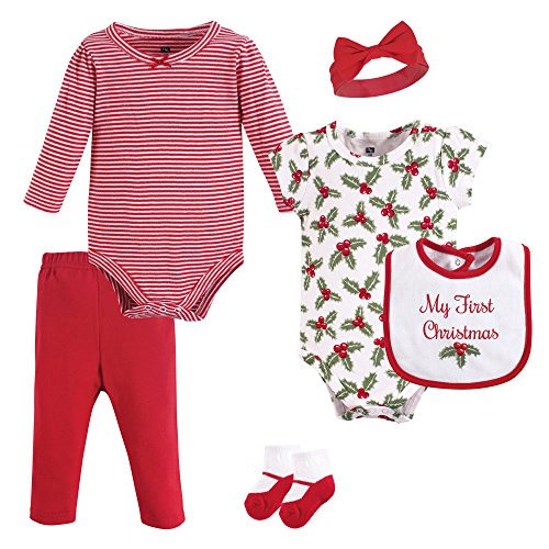 Hudson Baby Clothing Set, 6 Piece, Holly, 9-12 Months ()