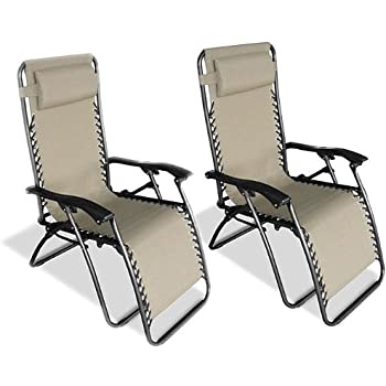 Exceptionnel Caravan Canopy Beige Zero Gravity Chairs (Pack Of Two)