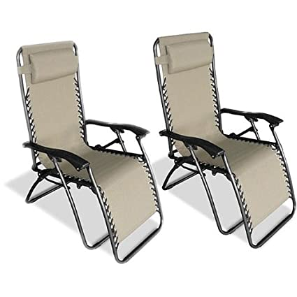 Attrayant Caravan Canopy Beige Zero Gravity Chairs (Pack Of Two)