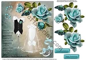 Tarjeta de la rosa de momentos de tarta con ilustraciones por Barbara Hiebert