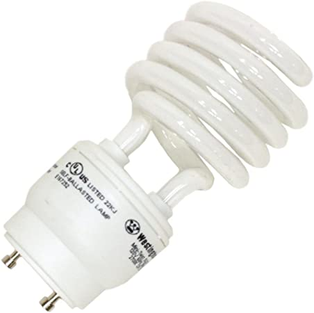23W Mini Spiral CFL GU24 Base 2700K Compact Fluorescent Light Bulb 100W Equal