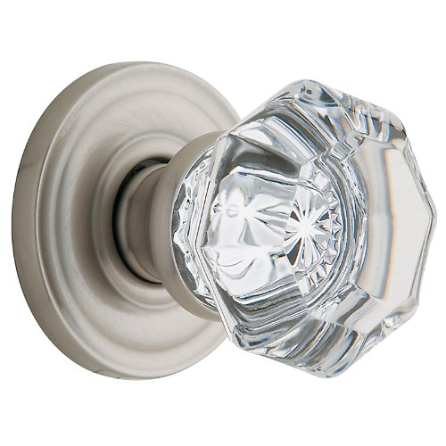 Baldwin 5080150MR Pair of Fillmore Estate Door Knobs without Rosettes, Satin ()