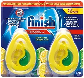 Dual Finish Fragrance - Bulk Finish Dishwasher Freshener, 1,200 washes, Citrus Scent, 0.17 fl oz / 5ml, Bulk Case of 10 - Total 20 Count