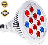 LED Grow light bulb – Greenhouse Hydroponics for organic indoor gardening – Lifespan Warranty, High Luminosity, Wide Coverage – Let your plant to touch the sun Review