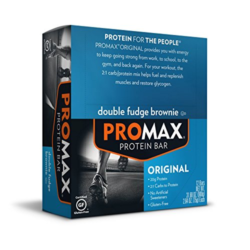 Promax Protein Bar, Double Fudge Brownie, 12-Pack ,2.64 OZ Each