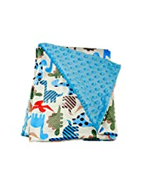 G-Tree Baby Blanket, Soft Minky Baby Blanket Baby Girl Security Dot Blanket Plush Dotted Toddler Baby Newborn Blanket for Nursery Stroller Crib Receiving Blanket Infant Unisex