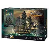"""CubicFun 3D Puzzles 26.6"""" Pirate Ship with 15 LED"""