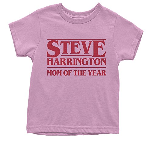 - Expression Tees Youth Steve Harrington Mom of The Year T-Shirt Medium Light Pink