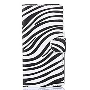 QYF Attractive Zebra Style Pattern PU Leather Full Body Cases with Stand for Samsung Galaxy Grand Prime G530H