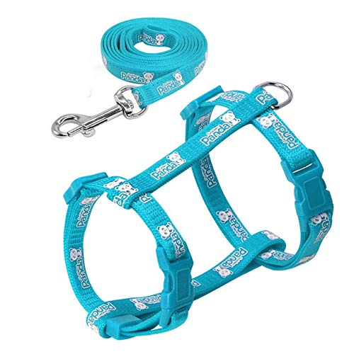 - CELLTEK Escape Proof Cat Harness and Leash - Adjustable Cat Walking Harness Nylon Strap Collar with Leash (Blue)