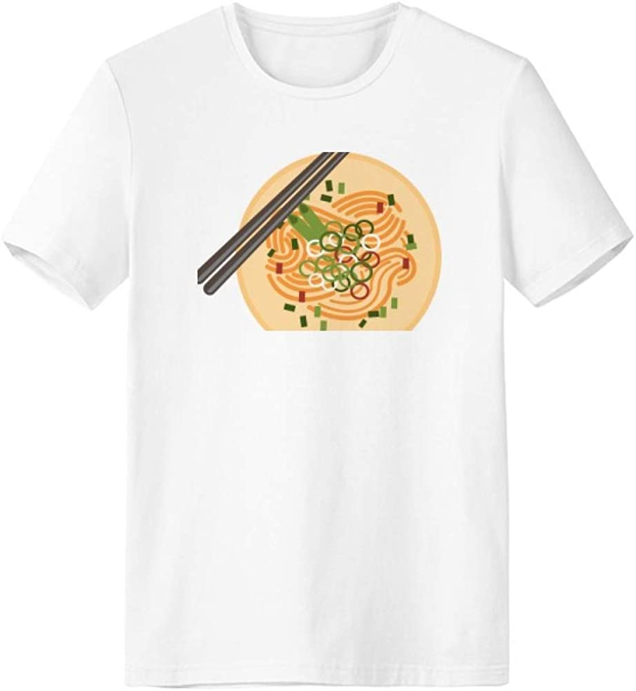 Chinese Dish Noodle Delicious Food Pattern T-Shirt Workwear Pocket Short Sleeve Sport Clothing