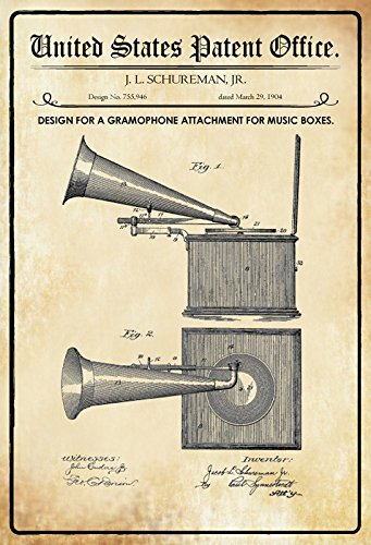Compra US Patentes - Design For A Gramophone Attachment for Music ...