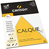 Canson Arts graphiques 200757243 Papier calque A4 21 x 29,7 cm 50 feuilles Transparent