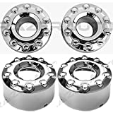05-17 Ford Super Duty F350+F450+F550 Dually Truck ONLY Chrome 10 Lug FRONT+REAR Wheel Center Hub Cap 4pcs Set