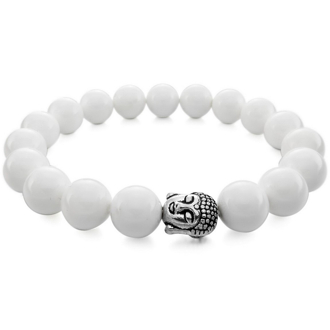 INBLUE Women, Men's 10mm Energy Bracelet Link Wrist Simulated Buddha Mala Bead INBLUE Men INBLUE Jewelry mnb1076-10.0