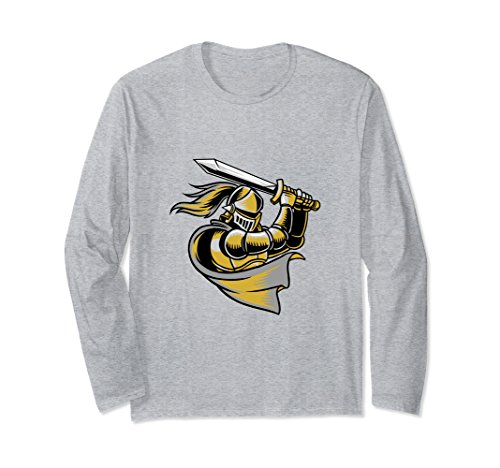 Unisex Golden Colored Knight With A Sword Long Sleeve Small Heather Grey