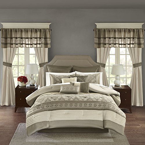 Madison Park Essentials Jelena Cal King Size Bed Comforter S