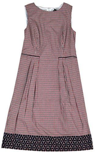 Sheath Brothers Cotton Women Dress Brooks Multi Sleeveless Red s qFwAppdWX