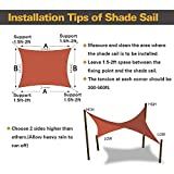 Cisvio 7' x 13' Sun Shade Sail Rust Red Rectangle
