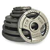 """Body Revolution Tri Grip Olympic Weight Plates - Cast Iron Discs for 2"""" 50mm Bars (1.25kg - 25kg) (1.25kg x 2)"""