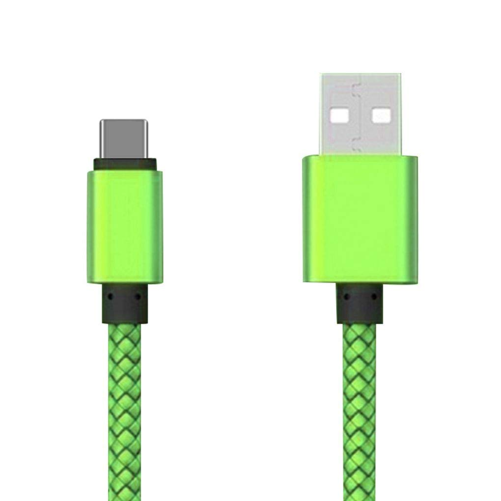 BoburyL Multi-Couleur 1m 3 m/ètres Charge Rapide USB Type C C/âble T/él/éphone Mobile Ligne de Fil de Charge Rapide 2.4A USB C donn/ées Cordon 2m