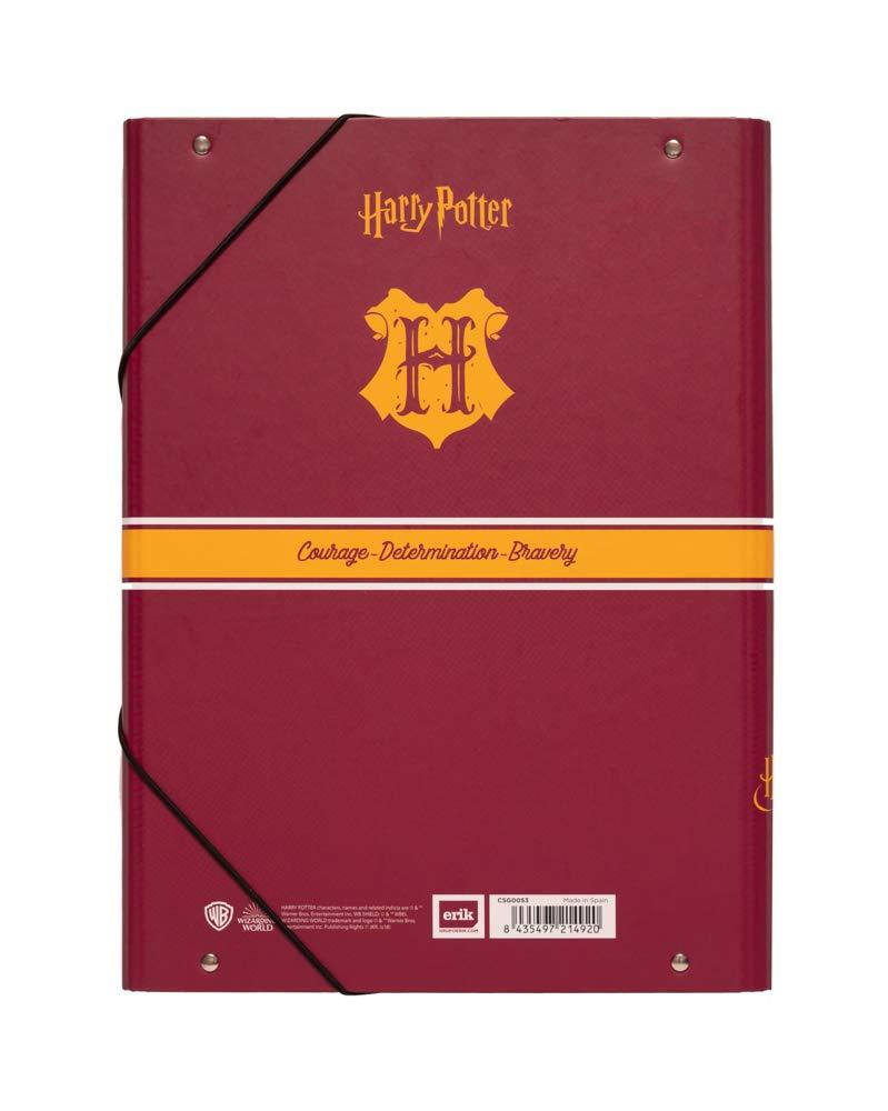 Erik A4 Rigide Chemise /à rabats cartonn/ée Harry Potter Gryffondor