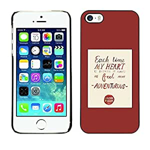 Soft Silicone Rubber Case Hard Cover Protective Accessory Compatible with Apple iPhone? 5 & 5S - heart love quote red poster text