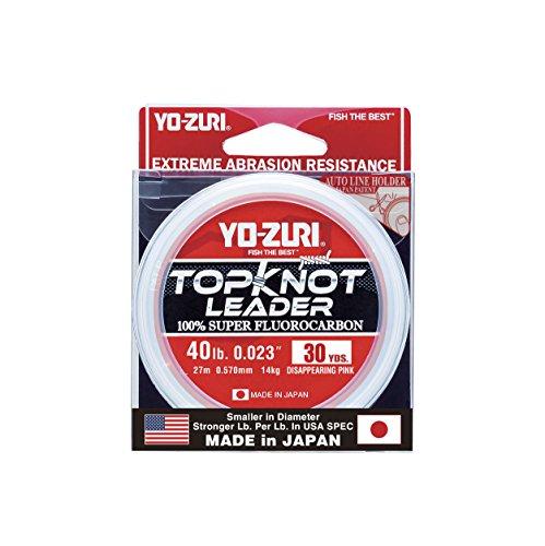 Yo-Zuri Topknot 30 yd Sinking Leader, Disappearing Pink, 40 lb
