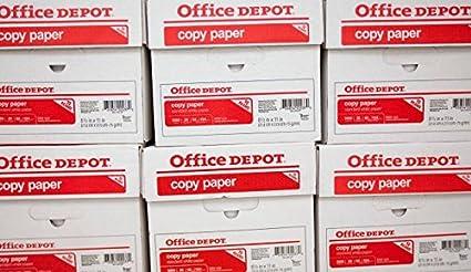 A4 80 GR papel multifuncional OFFICE DEPOT: 1 caja 5 resmas=: 2500 hojas: ofrecer al por mayor (seleccione número de cajas necesarias): Libre 48Hr entrega: Amazon.es: Oficina y papelería