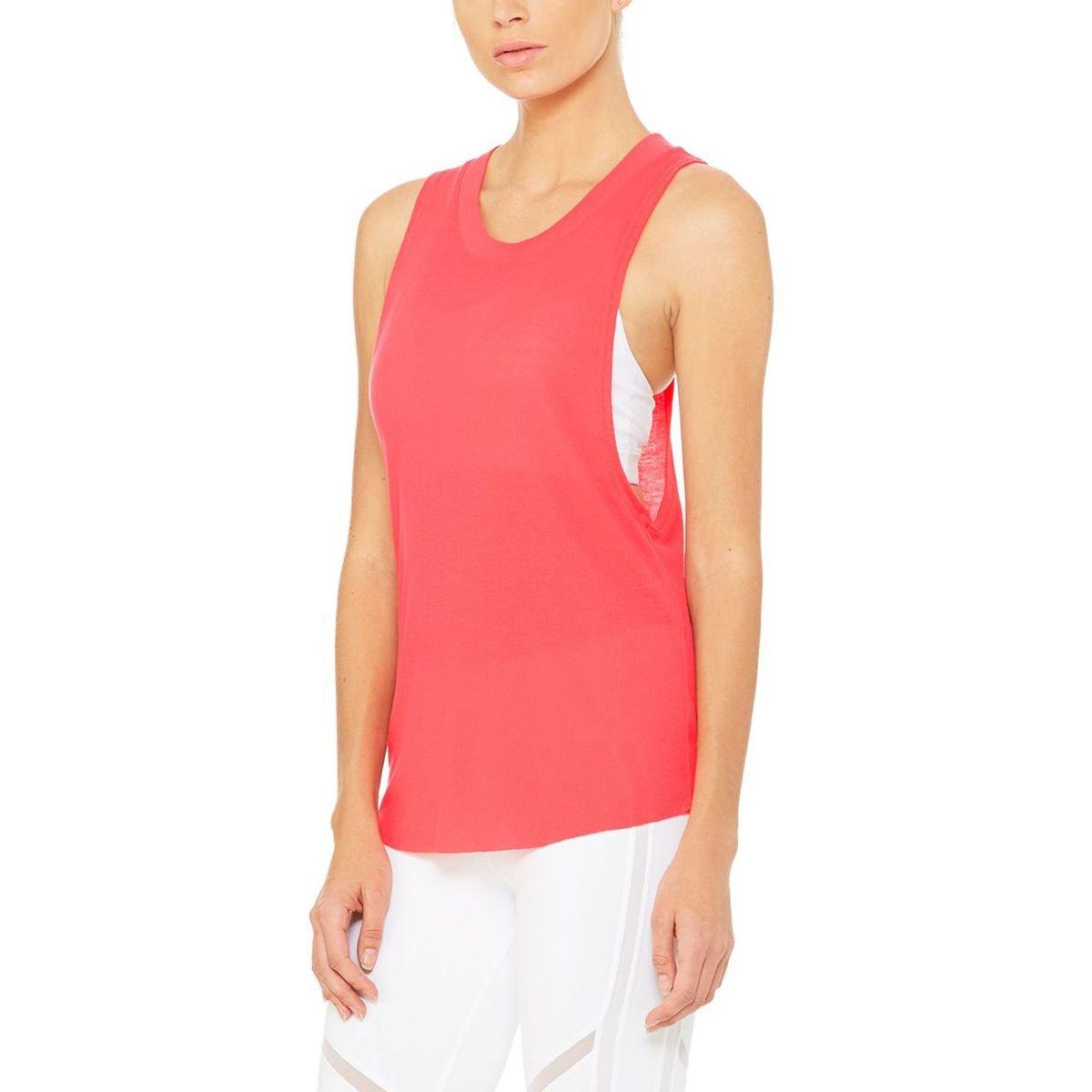 81d747e1d505b ALO Women s Heat-Wave Tank Top Rich Peony Tank Top at Amazon Women s  Clothing store