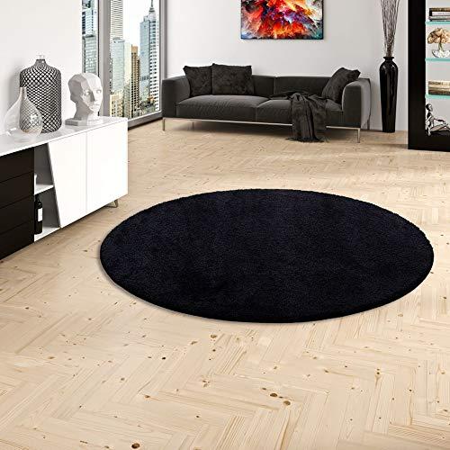 Palace Hochflor Shaggy Teppich Schwarz Rund in 7 Größen Größen Größen B002HS5KFI Teppiche 4b6fd1