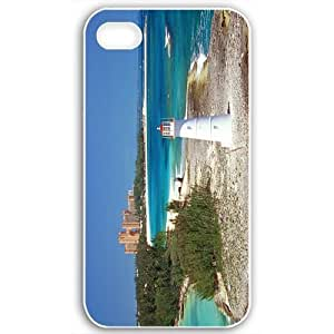 Diy Yourself Apple iPhone 4 4S case covers Customized Gifts Of Beach paradise island nassau bahamas Beach Black tArne2GPfCX
